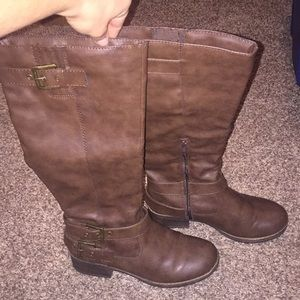 Kohl's brown Tall Ruler Boots Size 8